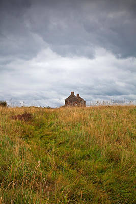 Grey Clouds Photograph - An Old Deserted Cottage At Rosses by Panoramic Images