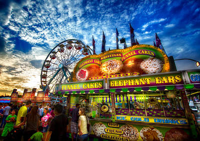 Photograph - An Old Fashioned Midway by Mark Andrew Thomas