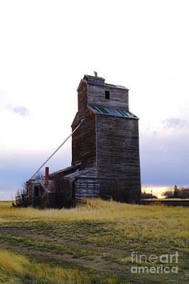 An Old Grain Elevator Off Highway Two In Montana Art Print by Jeff Swan