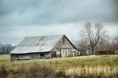 Photograph - An Old Gray Barn by Jai Johnson