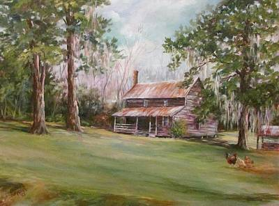 Painting - An Old Home Place by Gloria Turner