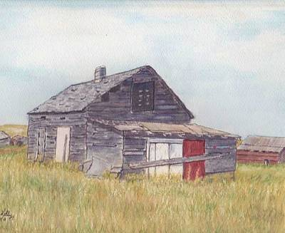 An Old Memory Home In The Grand Prairies Art Print