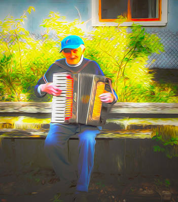 Musicians Royalty Free Images - An Old Musician Royalty-Free Image by Algirdas Lukas