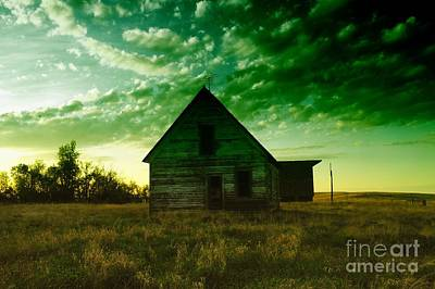 Birds Rights Managed Images - An Old North Dakota Farm House Royalty-Free Image by Jeff Swan