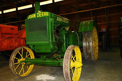 Birds Rights Managed Images - An old restored John Deere Royalty-Free Image by Jeff Swan