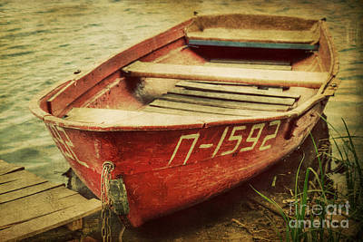 Central Asia Photograph - An Old Row Boat by Emily Kay