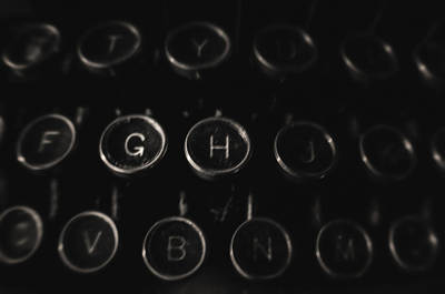 Typewriter Keys Photograph - An Old Royal  by Michael Demagall