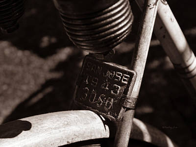 Photograph - An Old Rusty Bicycle by Xueling Zou
