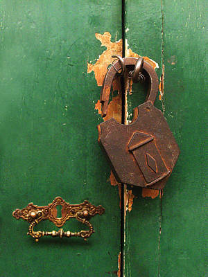 Photograph - An Old Rusty Lock by Xueling Zou
