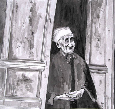 Photograph - An Old Sephardic Woman by Esther Newman-Cohen
