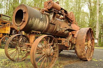 An Old Steam Tractor Art Print