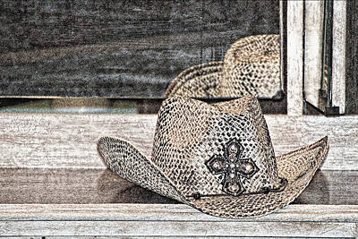 Photograph - An Old Straw Hat by Walter Herrit