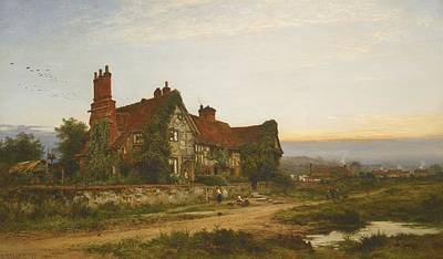 Benjamin Williams Leader Painting - An Old Surrey Home by Celestial Images