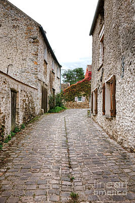 French Village Photograph - An Old Village Street by Olivier Le Queinec
