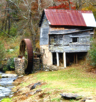 Whiteoaks Photograph - An Old Watermill by Eva Thomas