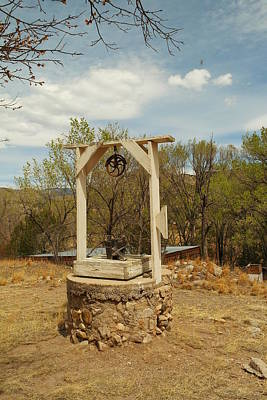 Billy The Kid Photograph - An Old Well In Lincoln City New Mexico by Jeff Swan