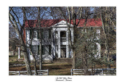 An Old White House Brentwood Tn Art Print by Gina Munger
