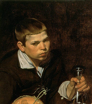 An Old Woman Cooking Eggs, Detail Of The Boy, 1618 Oil On Canvas Detail Of 68751 Art Print by Diego Rodriguez de Silva y Velazquez
