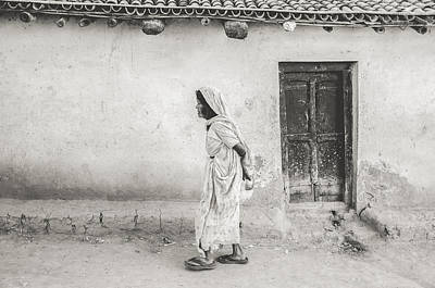 Photograph - An Old Woman In Bodhgaya by Valerie Rosen