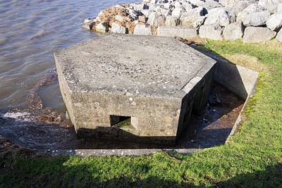 Pill Box Photograph - An Old World War Two Pill Box Flooded by Ashley Cooper