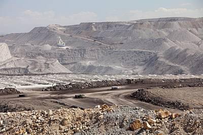 An Open Cast Coal Mine Art Print