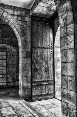 Photograph - An Open Door  Bw by Mark Fuller