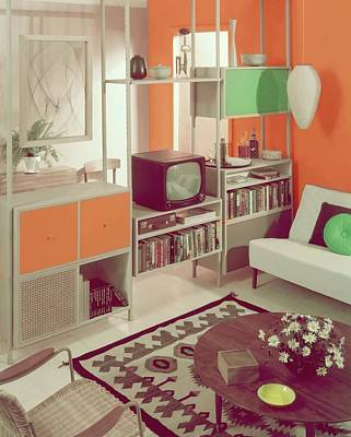 Coffee Table Photograph - An Orange Living Room by Haanel Cassidy