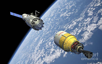 An Orbital Maintenance Platform Art Print