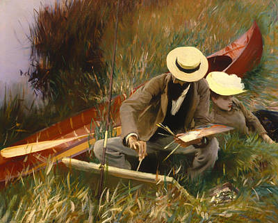 Fishing Pole Painting - An Outdoors Study by Mountain Dreams