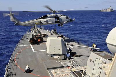 An Sh-60b Sea Hawk Helicopter Picks Art Print