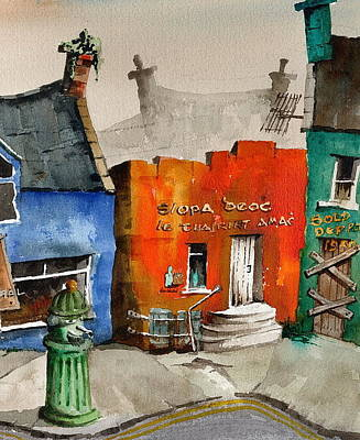 Painting - An Siopa Deoch The Drink Shop by Val Byrne