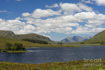 Photograph - An Teallach From Loch Droma by Howard Kennedy