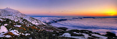 Nh Photograph - An Undercast Sunset Panorama by Chris Whiton
