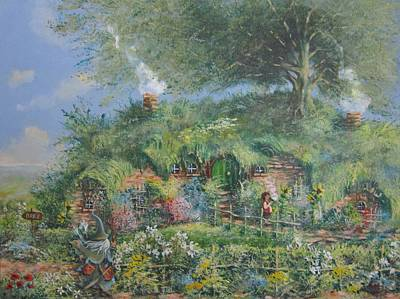 The Shire Painting - An Unexpected Adventure.the Story Begins. by Joe  Gilronan