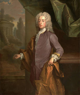 1743 Painting - An Unknown Man, Michael Dahl, 1656-1743 by Litz Collection