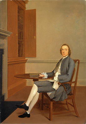 Bookshelf Painting - An Unknown Man Seated At A Table, Arthur Devis by Litz Collection