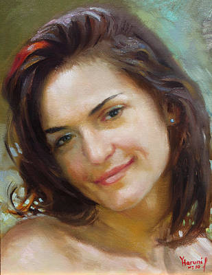 Portrait Oil Painting - Ana 2010 by Ylli Haruni