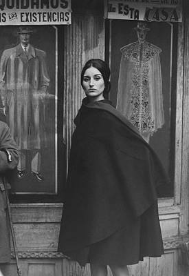 At Poster Photograph - Ana Mari Abascal Wearing A Cape by Henry Clarke