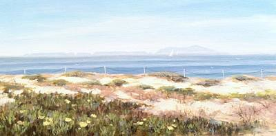 Sand Dunes Painting - Anacapa Island In The Springtime by Tina Obrien