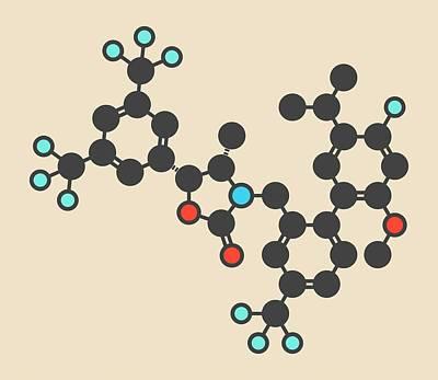Anacetrapib Drug Molecule Art Print