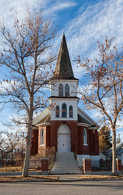 Photograph - Anaconda Christian Church by Fran Riley