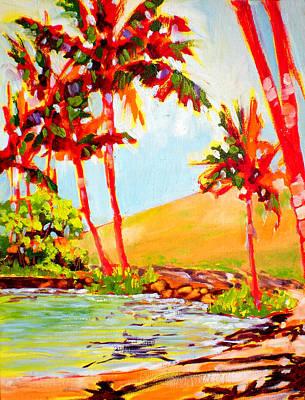 Fauvist Painting - Anaeho'omalu Quiet Palms by Richard Rochkovsky