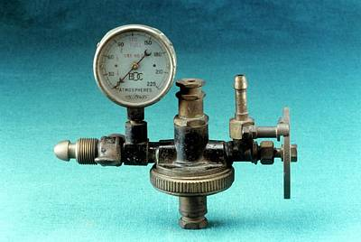 Anaesthetic Machine Reducing Valve Art Print by Science Photo Library