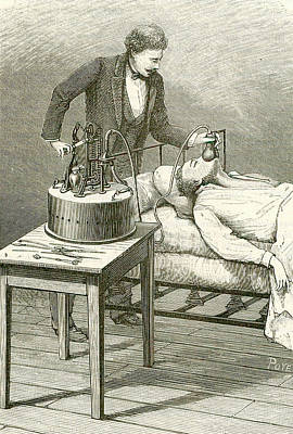 1833 Photograph - Anaesthetist Administering Chloroform by Universal History Archive/uig