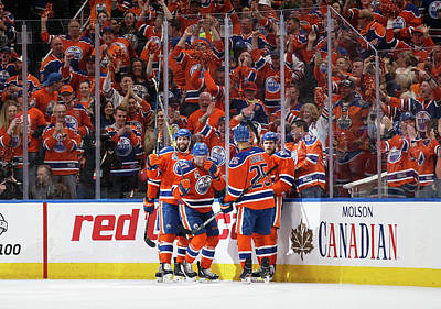 Photograph - Anaheim Ducks V Edmonton Oilers - Game by Codie Mclachlan