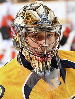 Photograph - Anaheim Ducks V Nashville Predators by John Russell