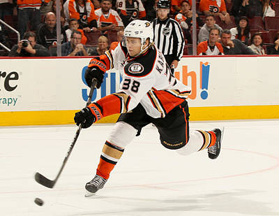Photograph - Anaheim Ducks V Philadelphia Flyers by Elsa