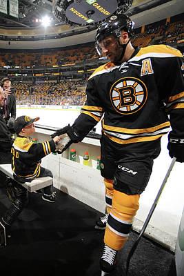Photograph - Anahiem Ducks V Boston Bruins by Steve Babineau