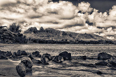 Anahola Mountains Art Print by Robert  FERD Frank