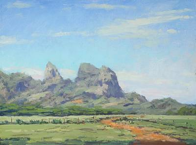 Hanalei Painting - Anahola Pastures by Pierre Bouret